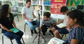 ONG Record Grava Documentário Na Biblioteca Antônio Massoud Rufeeil.