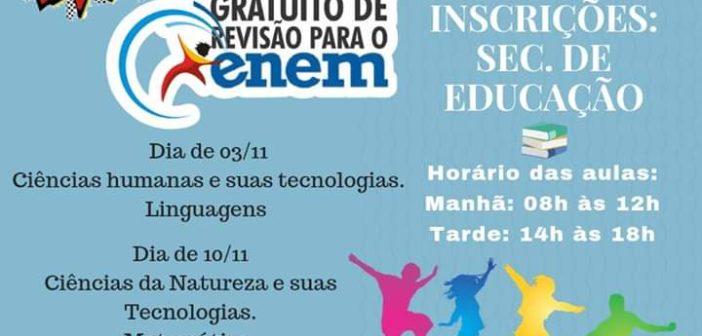 Aulão gratuito de revisão para o ENEM