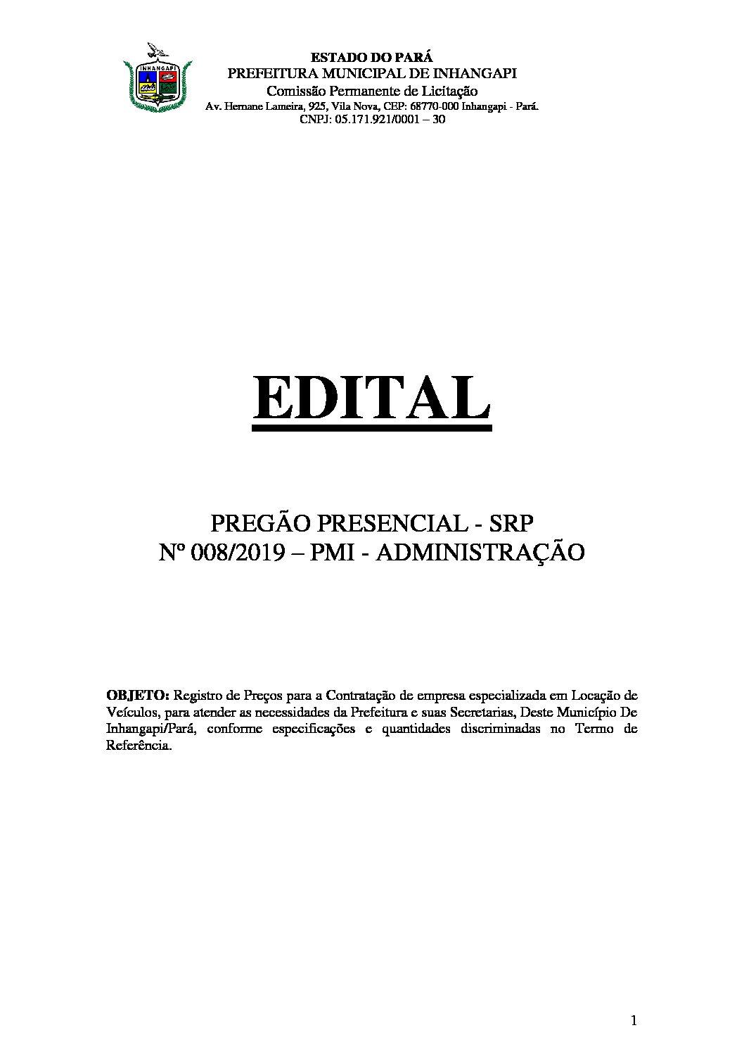 Edital-PP-SRP-nº 008.2019 - Locação de Veículos.assinado ...